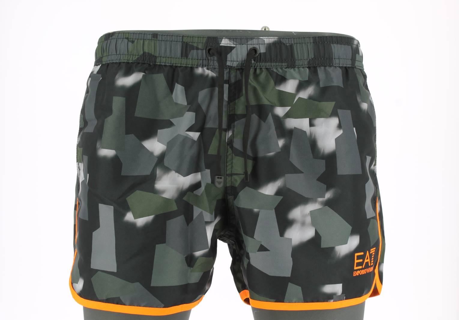 8287af6184 EA7 Emporio Armani Boxer Mare Uomo Con Elastico Camuflage